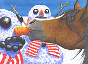 Seasonal Art - Horse got your nose by Catherine G McElroy