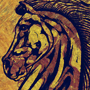 Horse Head Digital Art - Horse Head Abstract by David G Paul