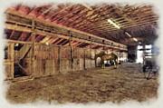 Horse In Barn Print by Dan Friend