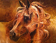 Windblown Paintings - Horse in Gold by Leni Tarleton
