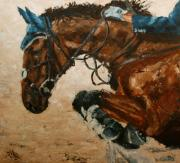 Contest Painting Prints - Horse jumping Print by Willem Arendsz