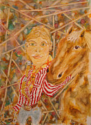 Western.love Painting Prints - Horse Love Print by Greg Blancett