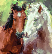 Horse Head Digital Art - Horse Love by Yury Malkov