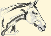 Digitals Prints - Horse - Lovely Print by Go Van Kampen