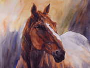 Roping Horse Paintings - Horse of a Different Color by Gary Bailey