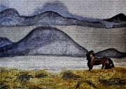 Horse Of The Mountains With Stained Glass Effect Print by Verana Stark