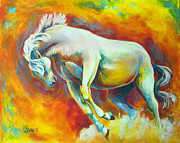 Rage Paintings - Horse on fire by Cindy Elsharouni