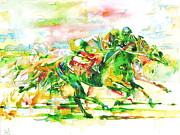 Jockey Paintings - Horse Painting.10 by Fabrizio Cassetta
