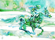 Jockey Paintings - Horse Painting.18 by Fabrizio Cassetta