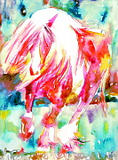 Wild Horse Paintings - Horse Painting.22 by Fabrizio Cassetta