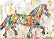 Trotting Paintings - Horse Painting.23 by Fabrizio Cassetta