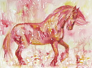 Trotting Paintings - Horse Painting.5 by Fabrizio Cassetta