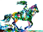 Jockey Paintings - Horse Painting.6 by Fabrizio Cassetta
