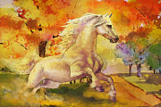 Horse Paintings 003 Print by Catf