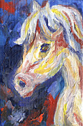 Impressionistic Horse Paintings - Horse Portrait 104 by Linda Mears