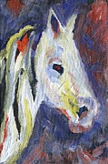 Horse Paintings - Horse Portrait 105 by Linda Mears