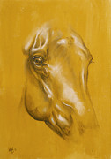Mammal Pastels - Horse portrait by Cindy Elsharouni