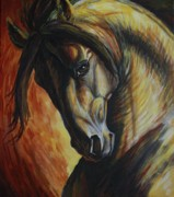 Black Paintings - Horse Power by Silvana Gabudean