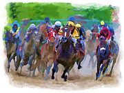 Chuck Staley Digital Art - Horse Races by Chuck Staley