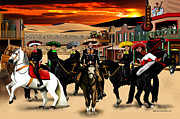 Mexican Artists Framed Prints - Horse Ride Framed Print by Marlon Ramirez