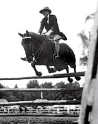 18-19 Years Prints - Horse Show Jump Print by Underwood Archives