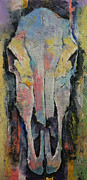 Wild Horses Framed Prints - Horse Skull Framed Print by Michael Creese
