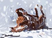Horse Snowflake Fun Print by Go Van Kampen