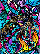 Vibration Framed Prints - Horse Framed Print by Teal Eye  Print Store
