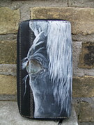 Artist Tapestries - Textiles Originals - Horse Wallet Misty by Heather Grieb