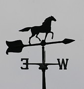 Weathervane Photos - Horse Weathervane by Marcel  J Goetz  Sr