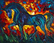 Print On Canvas Painting Prints - Horse Print by Willson Lau