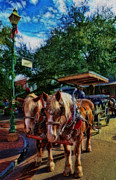Carriage Horse Photos - Horses - The Clydesdales in Christmas  by Lee Dos Santos
