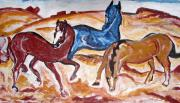 Oils Originals - Horses 3 by Anand Swaroop Manchiraju