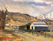 Utah Painting Prints - Horses and Bairs Print by Jeff Brimley