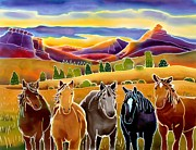 Horse Art Art - Horses at First Light by Harriet Peck Taylor