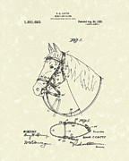 1920 Drawings Framed Prints - Horses Bridle 1920 Patent Art Framed Print by Prior Art Design