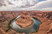 Peter Lik Style Framed Prints - Horseshoe Bend Day Shot Framed Print by Michael Ver Sprill