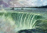 New York State Painting Originals - Horseshoe Falls by Stephen Daniels