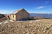 Colorado Mountains Photos - Horseshoe Mountain Mining Shack by Aaron Spong