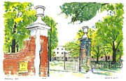 Quad Painting Prints - HORSESHOE University of S.C. Print by Patrick Grills