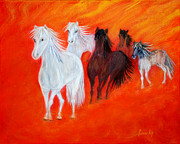 Fast Paintings - Horses.Soul Collection. by Oksana Semenchenko