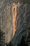 Horsetail Falls Sunset Print by Patricia Sanders