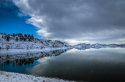 Horsetooth Reservoir Metal Prints - Horsetooth Reservoir Eastern Bank Metal Print by Harry Strharsky