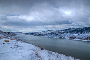 Horsetooth Reservoir Art - Horsetooth Reservoir Looking South by Harry Strharsky