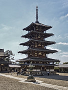 Kansai Photos - Horyu-ji Temple Pagoda - Nara Japan by Daniel Hagerman