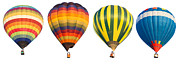 Ballooning Posters - Hot Air Balloon Poster by Anek Suwannaphoom