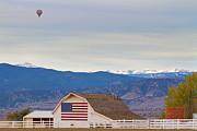 James Bo Insogna - Hot Air Balloon Boulder Flag Barn and Eldora