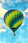 Arizonia Posters - Hot Air Balloon Checkerboard Poster by Robert Bales