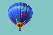 Hot Air Balloon Framed Prints - Hot AIr Balloon Digitally Painted 3 Framed Print by David Haskett