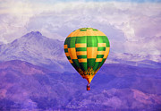 Aeronautical Framed Prints - Hot Air Balloon Framed Print by Juli Scalzi